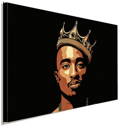 Tupac Shakur 2Pac Krone  Rap Leinwandbild AK ART Kunstdruck Wandbild Wanddeko