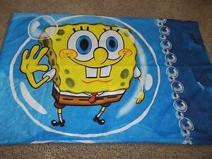 Spongebob Squarepants Movie Character Reversible Microfiber Pillow Case {Fabric}