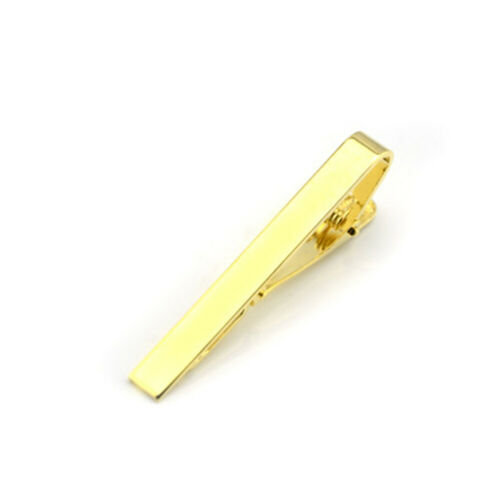 Tie Pin Clip short Slim Gold//Silver//Black dad Bar Christmas Clasp office Mens