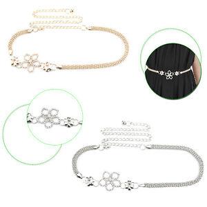 be03dfb9 Detalles de Pedrería Cadena Cintura Cinturón Charm para Mujer Joyería Moda  Accesorio Vestido