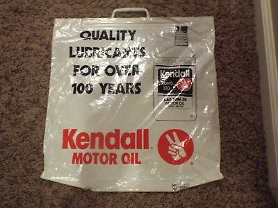 Very Rare Kendall Motor Oil Carry Plastic Bag Glues, Epoxies & Cements Business & Industrial Never Used Colours Are Striking