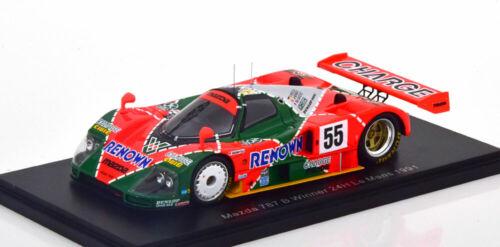 1:43 Spark Mazda 787 B winner 24h le mans 1991