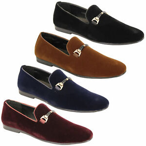 7a297ac9fcaa3 Mens Slip On Italian Shoes Designer Loafers Suede Look Moccasin ...