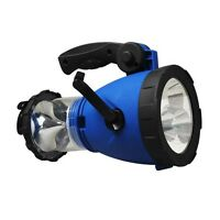 Led Outdoor Emergency Hand Crank Lantern Light Lamp Spotlight W/ Car Charger