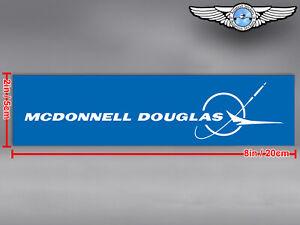 MCDONNELL DOUGLAS MD RECTANGULAR LOGO DECAL / STICKER