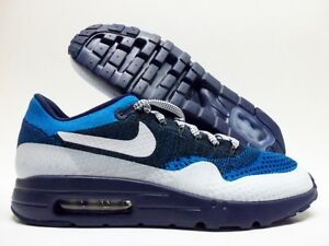 9284121dfd11 NIKE AIR MAX 1 ULTRA FLYKNIT ID LASER BLUE WHITE SIZE MEN S 8.5 ...