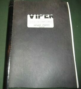 Details about VIPER 301 TURBO PORTABLE SCREEN PLANT PARTS MANUAL BOOK  CATALOG