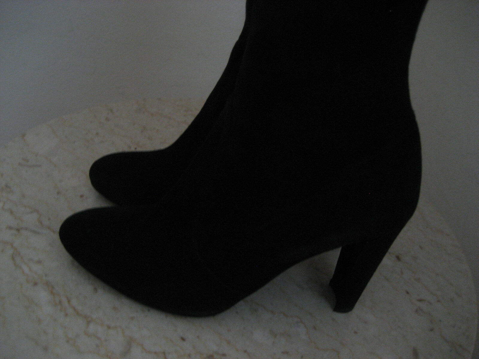 NW AUTH STUART WEITZMAN HIGHLAND OVER KNEE BOOT BLK SUEDE SUEDE SUEDE LEAT SZ 8 1 2M RET898  b7ea25