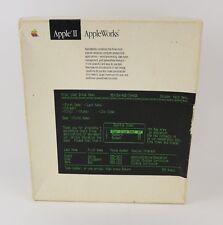 """VTG 80s AppleWorks 2.0 Apple II box Set 5¼"""" Disks & Manual Computer Software"""