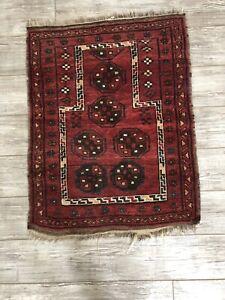 Vintage-3-039-6-034-x-2-039-7-034-Red-Prayer-Rug-Made-in-Bokhara-Afghanistan