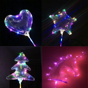DEL-Light-Up-Ballon-Coeur-Transparent-Mariage-Anniversaire-Noel-Lumieres-de-fete-decoration