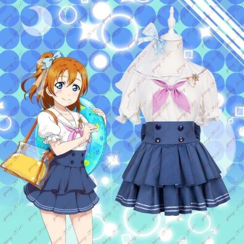 Love Live Group Sailor Uniform Cosplay Costume Dress Blouse+Skirt+Tie New