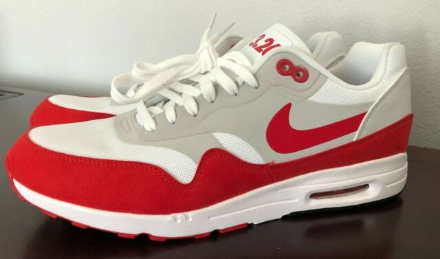 WOMENS NIKE AIR MAX 1 ULTRA 2.0 LE QS 908489 101 WHITE UNIVERSITY RED SIZE:11