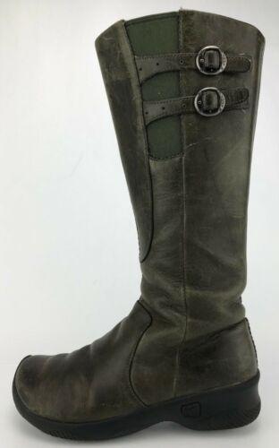 Keen Bern Baby Bern Boots Side Zip Green Leather K