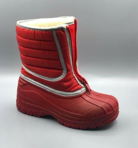 rouges Nouveau 11 rouges imperméables neige unisexes 4 de chaudes Enfants snow Uk Bottes Trall Clarks F SXxnSvrqwR
