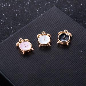 10pcs-Mini-Enamel-Alarm-Clock-Charm-Pendant-for-Necklace-Bracelet-Jewelry-Making