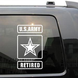 US Army Retired Star USMC Car Trunk Military Die Cut Decal ...