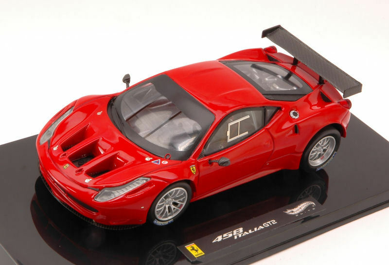 Ferrari 458 italia gt2 2011 rosso elite Edition 1 43 Model x2861 Hot Wheels