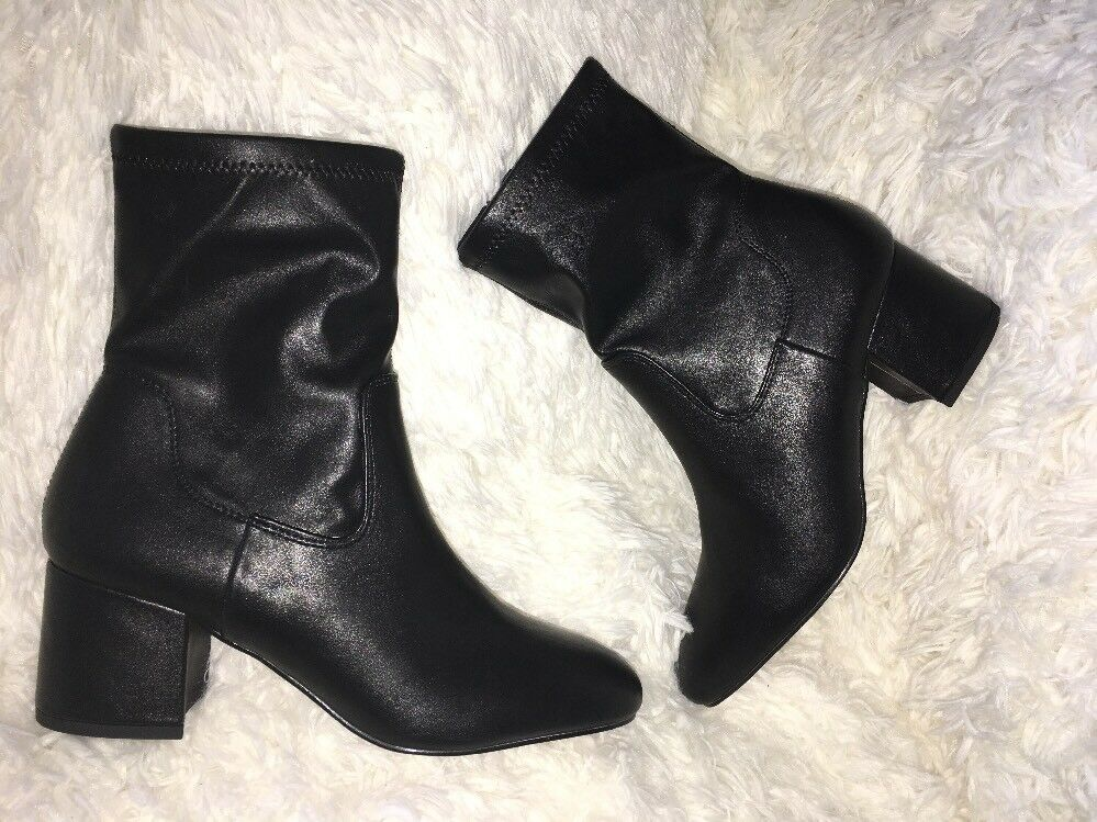 Franco Sarto jayden BLACK FAUX LEATHER boots SZ 7
