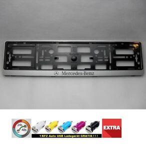 Mercedes-Benz-G-2x-License-Plate-I-New-Plate-Holder-Car-2-Genuine