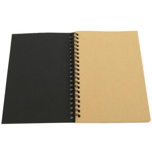 EG/_ Kraft Spiral Binding Blank Graffiti Sketchbook Notebook Graduation Gift Raki