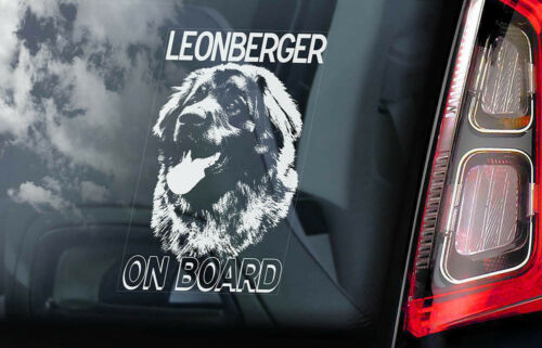 Leonberger Auto Aufkleber,Hund Fenster Aufkleber Stoßstange Schild Haustier
