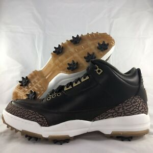Nike-Air-Jordan-3-Golf-PRM-Premium-Brown-Shoes-Cleats-AO8952-200-Men-039-s-8-5-9-5