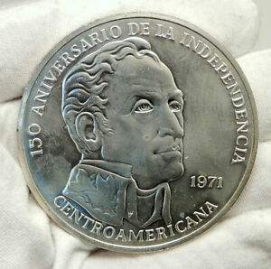 1971-PANAMA-Huge-6-2cm-Proof-Silver-3-8oz-20-Balboas-Coin-w-SIMON-BOLIVAR-i76336