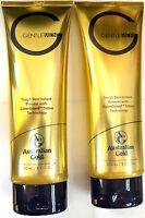 Lot Of 2 Australian Gold Gentlemen Bronzer Tanning Bed Lotion Formulated For Men