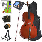 CECILIO SIZE 1/2 ACOUSTIC CELLO STUDENT w/ TUNER, LESSON BOOK 1/2CCO-100