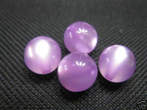 4 polaris perles 8mm clair violet brillant neuf 5755