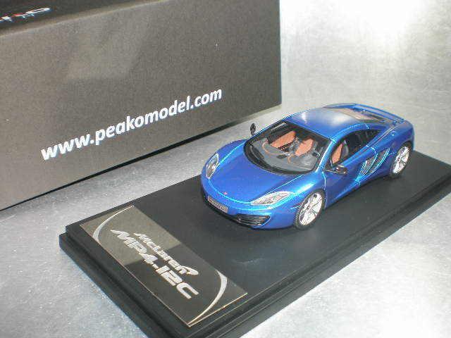1/43 Peako 4307BL McLaren MP4-12C Azul Azul Con Rueda Estándar