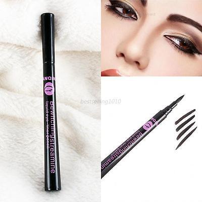 Black Gel Eyeliner Liquid Waterproof Eye Liner Pencil Pen Cosmetic Make Up B12