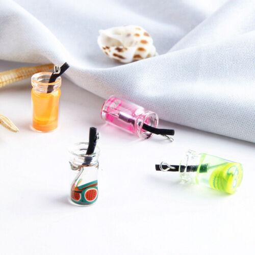 5Pcs//Set Fruit Bottle Resin Charms Pendant Craft DIY Findings Jewelry Making HU