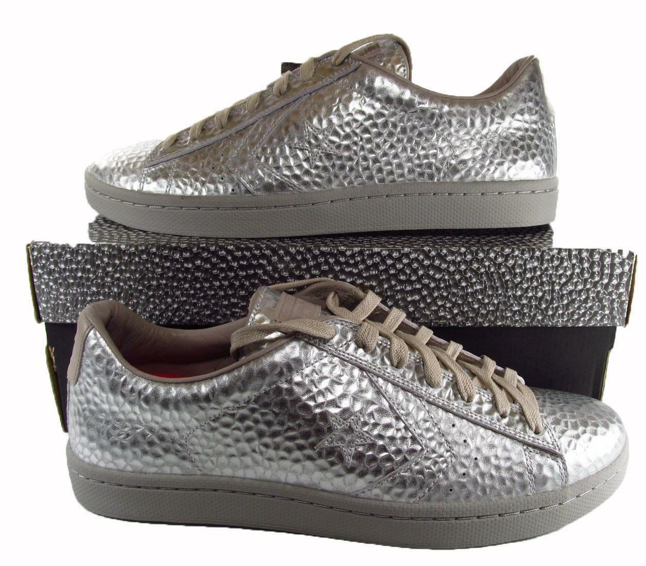 Converse First String String String Cons Pro Pelle Ox Hammered PEWTER Pelle RARE 150837C 22d9bb