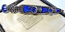 Design Vintage Firmato miracolo gioielli DIRK celtica LAPIS BLU Kilt pin spilla