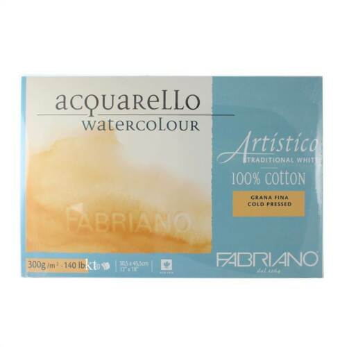 Fabriano Acquarello Blanc Traditionnel Aquarelle Pad bloc-Tailles assorties!