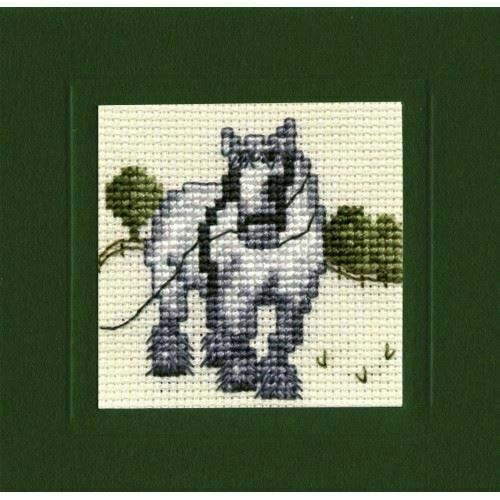 Textile Heritage Shire Horse Miniature Card Cross Stitch Kit