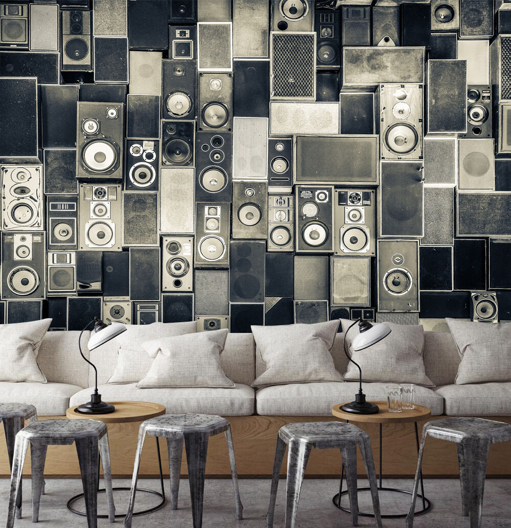 3D Speaker Pattern Wall Paper Wall Print Decal Wall Deco Indoor wall Mural Home