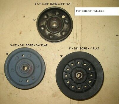 """1 196104 532196104 3 Flat Idler Pulley Kit for 54/"""" Decks 2 196106 523196106"""