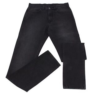 bbd2f895abac Image is loading 4457s-jeans-uomo-gucci-nero-vintage-effect-pantalone-