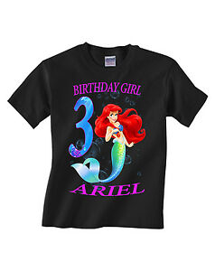 Image Is Loading The Little Mermaid Ariel Shirt Personalized Name And
