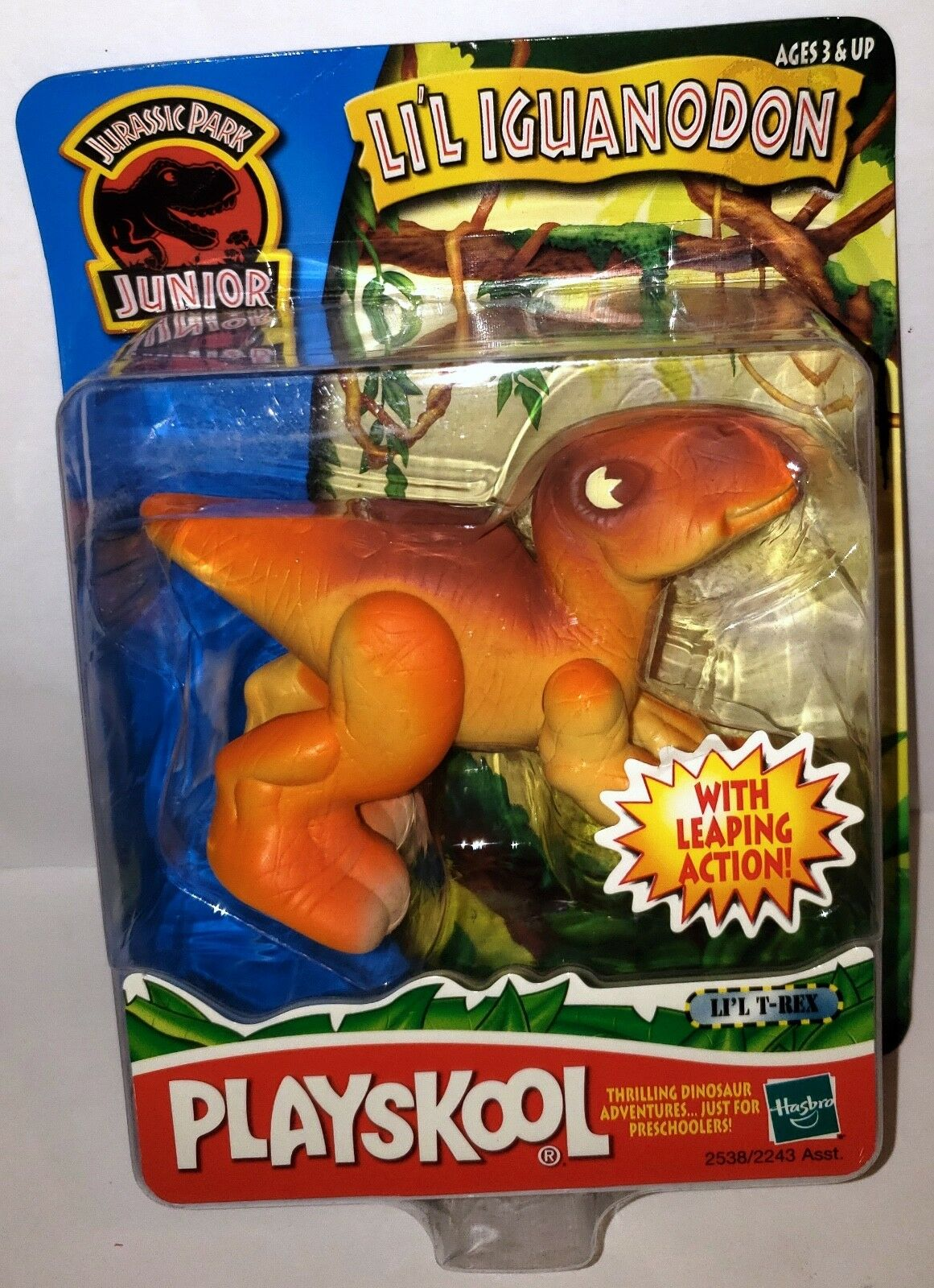 (selten   tippfehler) jurassic park junior jr. playskool werden iguanodons dinosaurier - spielzeug