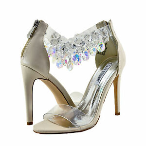 adc7f2e3525 Womens Shoes Cape Robbin Suzzy 54 Clear Toe Gem Embellished Heel ...