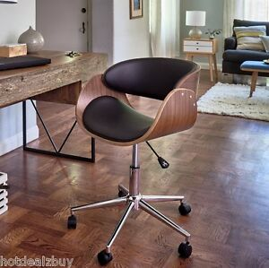 Retro office desk chair adjustable seat vintage guest for Norwegian vintage office chair