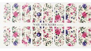 Nail-Patch-WATER-TRANSFER-Stickers-105-Nail-Art-Decorazione-Unghie-Fiori-Colora