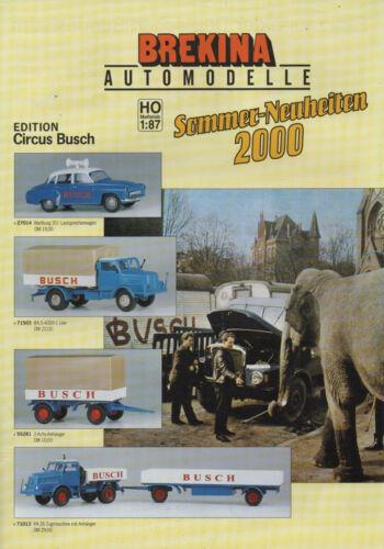 """VW Brekina Automodelle /""""ESTATE-Novità 2000/"""" Wartburg 311 altoparlanti auto"""