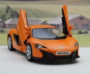PERSONALISED-PLATES-Orange-Mclaren-Diecast-Model-Boys-Dad-Toy-Car-Present-Boxed