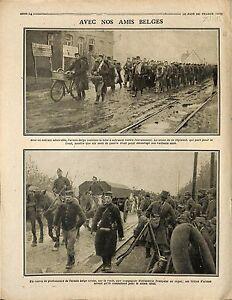 Bataille-de-l-039-Yser-Soldats-de-Belgique-Route-des-Flandres-Poilus-France-1915-WWI