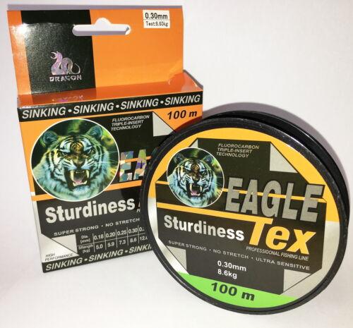 0,50mm Qualitäts Fluorocarbon Angelschnur 0,50mm 100m 18Kg MONOFILE SCHNUR SN-